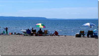 Wasaga Beach, Ontario. Just a short drive from Collingwood